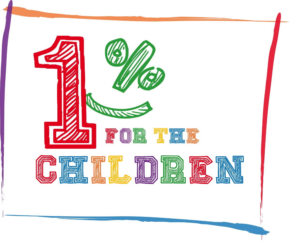 1% for the children logo